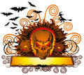 Angry halloween skull Royalty Free Stock Photos