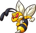 Angry hornet, wasp, or bee mascot Royalty Free Stock Photo