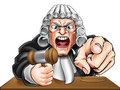 Angry Judge Cartoon