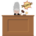 Angry judge cartoon of an old school female Royalty Free Stock Photos
