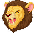 Angry lion head mascot cartoon illustration of Royalty Free Stock Images
