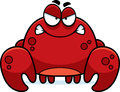 Angry little crab a cartoon illustration of a looking Royalty Free Stock Photos