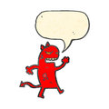 Angry little devil cartoon Royalty Free Stock Photo