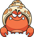 Angry little hermit crab a cartoon illustration of a looking Stock Photo