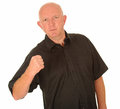 Angry man with clenched fist Royalty Free Stock Photo