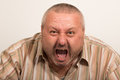 Angry man yelling Royalty Free Stock Photo