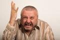 Angry man yelling Royalty Free Stock Photo