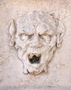 Angry mask located in palazzo del te mantua Royalty Free Stock Images