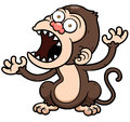 Angry monkey vector illustration of cartoon Royalty Free Stock Photography