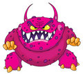 Angry monster Royalty Free Stock Image