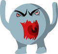 Angry monster illustration of an Royalty Free Stock Photos