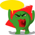 Angry monster with speech bubble illustration of an Stock Photos