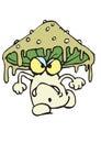 Angry mushroom all wet Stock Photo