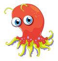 An angry octopus illustration of on a white background Stock Image