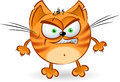 The angry orange cartoon cat Stock Images