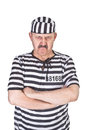 Angry prisoner portrait of a over white background Stock Image