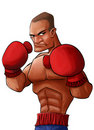 Angry pugilist Stock Photography