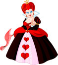 Angry Queen of Hearts Royalty Free Stock Photo