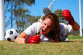 Angry screaming soccer player Royalty Free Stock Photo