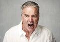 Angry senior man Royalty Free Stock Photo
