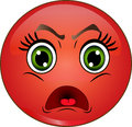 Angry smiley emoticon Royalty Free Stock Photo