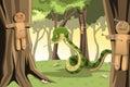 Angry snake Stock Photo