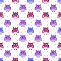 Angry, strict, surprised colorful owls