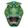 Angry t-rex raptor head Logo. Vector decorative Emblem. Royalty Free Stock Photo
