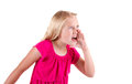 Angry teen yelling or shouting Royalty Free Stock Photography