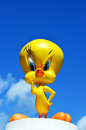 Angry tweety pie warner bros figure part of a huge private collection of big figs and original warner bros store display figures Royalty Free Stock Image
