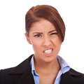 Angry and upset young business Royalty Free Stock Image