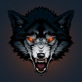 Angry wolf illustration