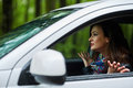 Angry woman with road rage Royalty Free Stock Photo