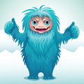 Angry yeti monster Stock Photo