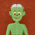 Angry Zombie - Pixel Art Illustration Royalty Free Stock Photo