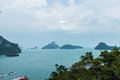 Angthong islands landscape of of thailand Stock Photo