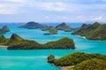 Angthong national marine park koh samui island thailand bird eye view of Stock Photography