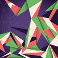Angular abstract illustration. Royalty Free Stock Photo