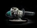 Angular grinder on black background Stock Image