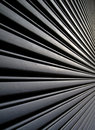Angular view of metal garage Royalty Free Stock Image
