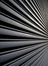 Angular view of metal garage Royalty Free Stock Photo