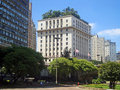 Anhangabaú valley one of the main squares in são paulo old downtown Royalty Free Stock Photos
