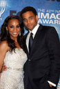 Anika noni rose michael ealy los angeles in the press room of the nd naacp image awards at shrine auditorium on march in los Royalty Free Stock Photos
