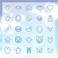 Animais ícones dos animais de estimação ajustados Imagem de Stock