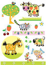 Animais Fruity Foto de Stock