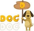Animal Alphabet D With Dog