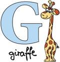 Animal alphabet G (giraffe)