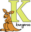 Animal alphabet K (kangaroo) Royalty Free Stock Photo