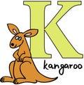 Animal alphabet K (kangaroo) Royalty Free Stock Photo