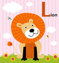 Animal alphabet for the kids: L for the Lion